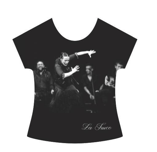 La Truco Flamenco Dancer T-Shirt. Black Dress