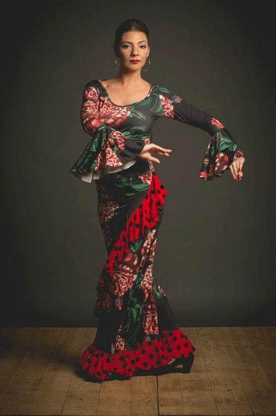 Flamenco Top Olmeda Model. Davedans