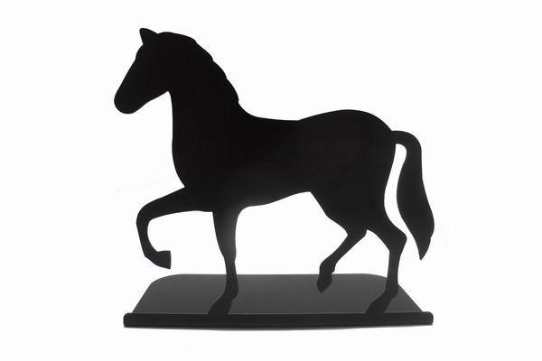 Wrought Iron Horse Wine Rack