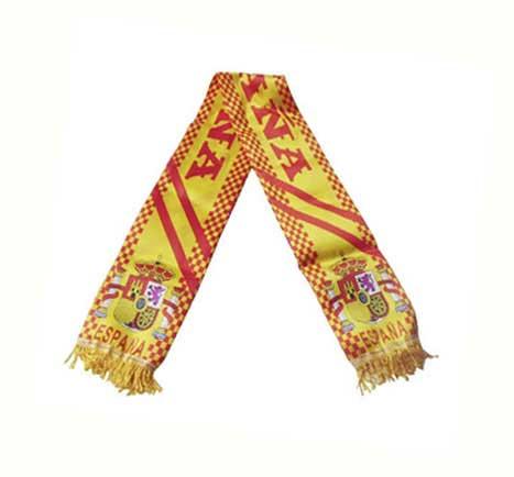 Spanish flag scarf. Sateen