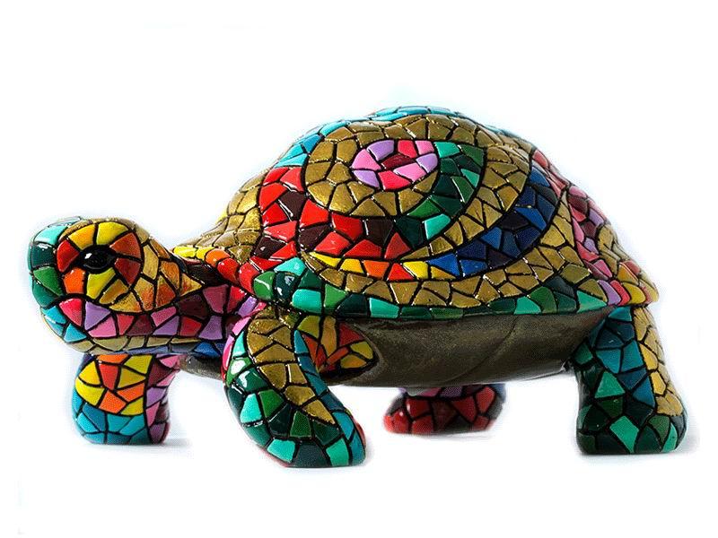 Mosaic Turtle. Carnival. 14cm