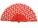 Ploka Dots Fan With Red Background and White Polka Dots 3.50€ #50032Y480FROJO