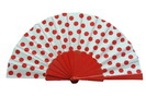 Polka Dots Fan With White Background And Red Polka Dots