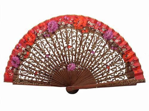 Bubinga fan spanish handicraft. Ref. 402 45.12€ #500320402