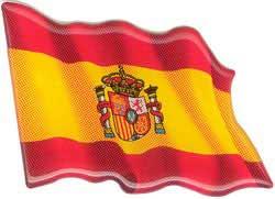 Spanish fluttering flag