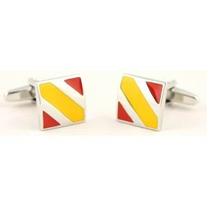 Square Cufflinks with Spanish Flag