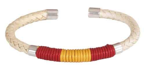 White cordon Bracelet Spanish Flag