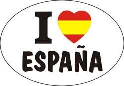 ステッカー I LOVE ESPAÑA 1.30€ #508544026