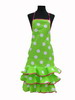 Pistachio Green Flamenco Apron with White Dots