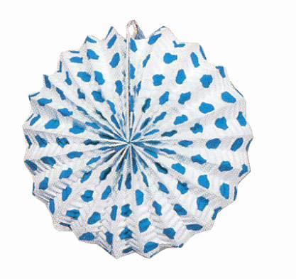 Chinese lantern with blue polka dots. 24 Chinese lanterns