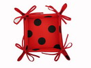Red Breadbasket with Black Polka Dots