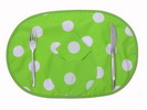 Individual Tablecloth - Pistachio with Polka Dots 5.50€ #504920035