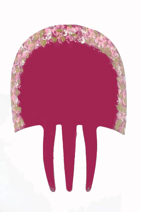 Bougainvillea Acetate Comb with Hand-painted Little Flowers