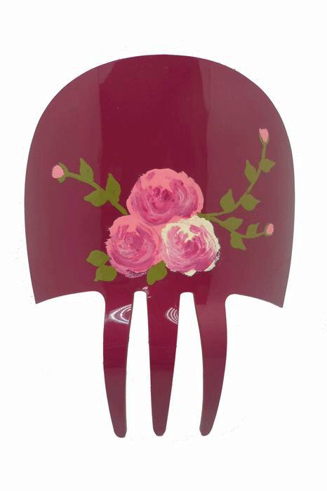Acetate comb hand painted in bougainvillea color