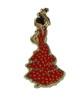 ピンバッジ フラメンコダンサー(女性) 1.90€ #500830006