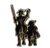 Don Quixote and Sancho Panza pin 1.90€ #50083P0013