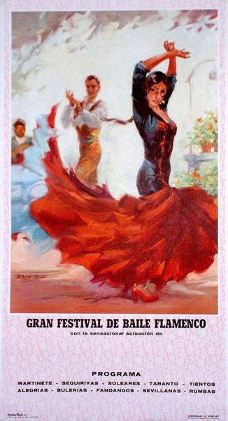Red Flamenca Dancer Poster