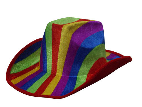 Rainbow Cow boy hat