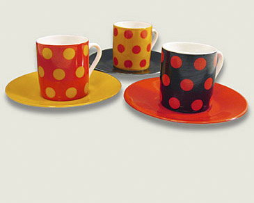 Expresso cups with polka dots