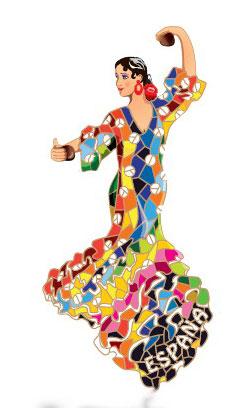 Magnet dancer flamenco outfit Gaudi