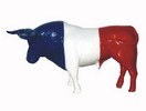 Bull with French Flag