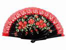 Hand Painted Wood Fan with Red Lace 8.10€ #503282374