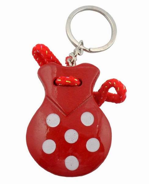 Key ring Red Castanet White Dots 1.95€ #50034XB11RJ