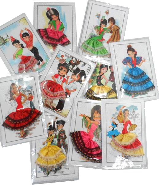 Flamenca Postcards for Children. Dress 3D. Pack 10 Units