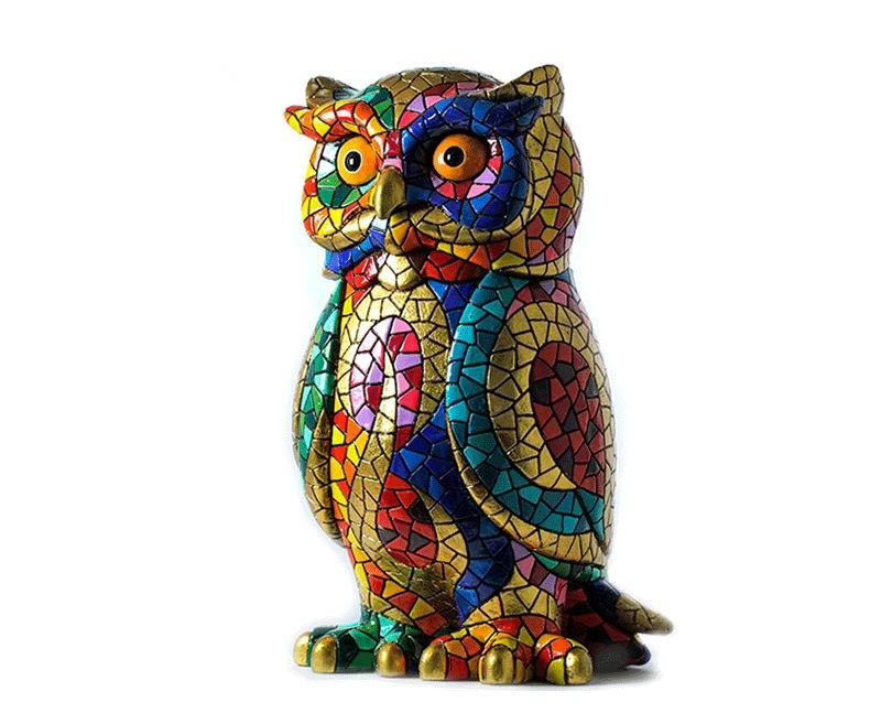 Carnival Mosaic Owl Barcino. 18cm