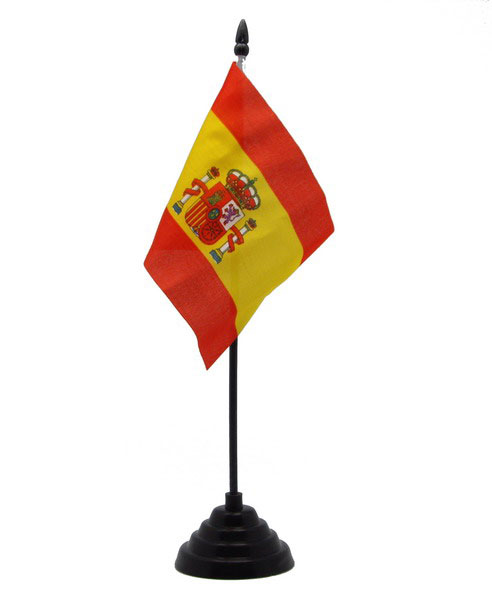 Spanish flag. Small flag for table