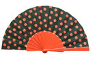 Dot's Fans. Black Background Red Dots