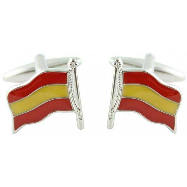 Cufflinks Spanish Flag with Flagstaff