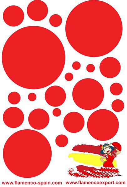 Pegatinas de Lunares Rojos