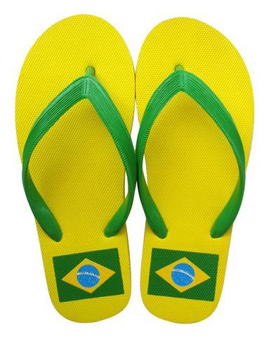 Brasil flag slippers
