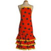 Red Flamenco Apron with Black Dots and ''Madroños'' 20.00€ #504920002