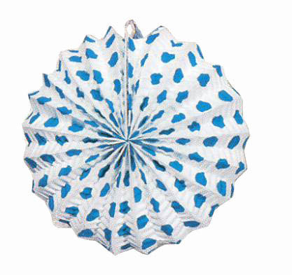 Chinese lantern with blue polka dots. 24 Chinese lanterns