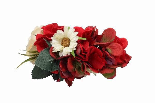 Flower Headdress in Red.