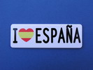 License plate I love España - Magnet