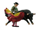 Magnet Bullfighter fighting a bull. Green