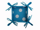 Turquoise Breadbasket with White Polka Dots 8.50€ #504920041