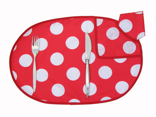 Individual Tablecloth - Red with White Polka Dots