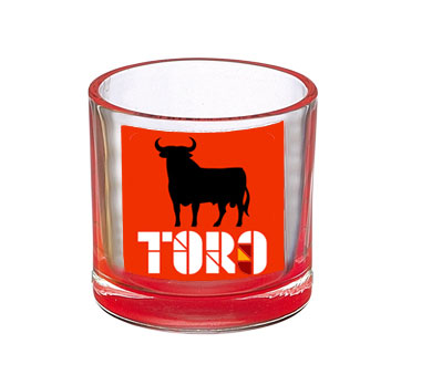 Short Shot glasses red Osborne Bull. Mountain