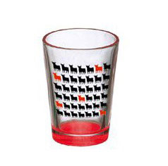 Osborne Bull Shot glass High and red. Mini bulls