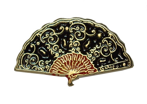 Black Fan Pin