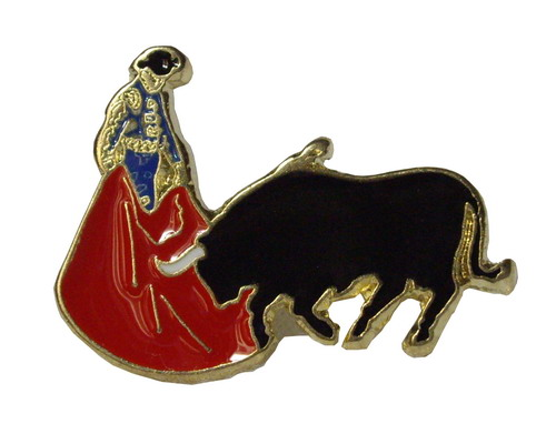 Bull and Bullfighter Pin