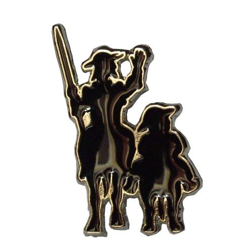 Don Quixote and Sancho Panza pin