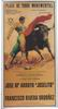 Poster of the Monumental Bullfighting of Madrid. Bullfighters Joselito and Rivera Ordoñez 10.10€ #500190512