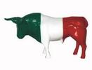 Bull with Italian Flag