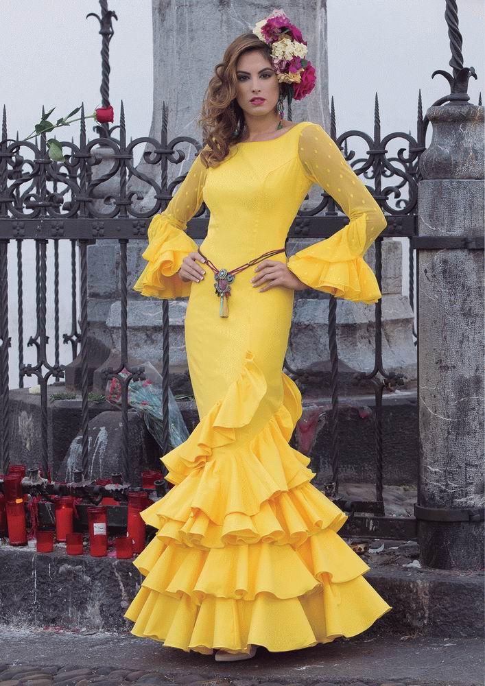 Traje de Flamenca. Modelo Girasol. 2017-2018 398.35€ #50115GIRASOL2017