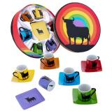 6 coffee cups Osborne Bull colours 23.60€ 500580011247